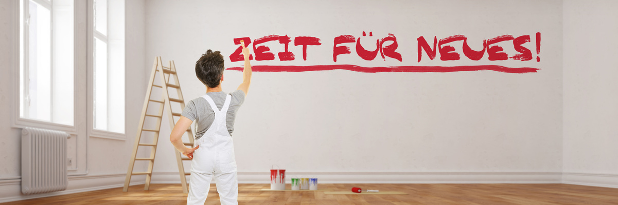 Blickfänger - Maler Schreibt Zeit Für Neues Bei Renovierung